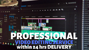 I will do professional video editing service