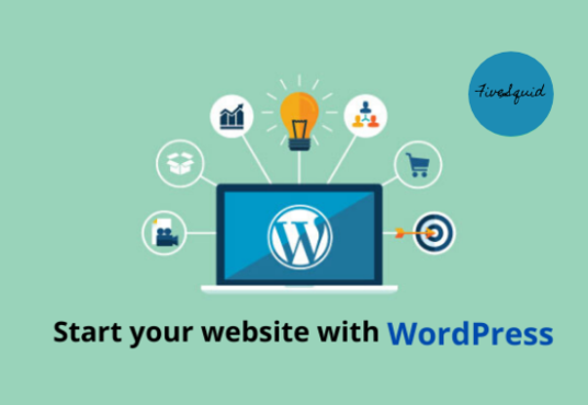 install WordPress and build full responsive website