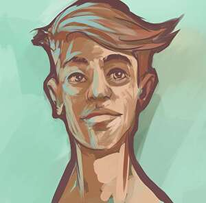 I will do a digital painting of a character in my style