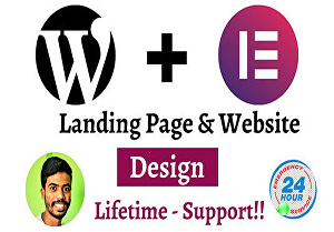 I will design  responsive landing page and website using elementor pro