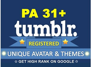 I will create five expired Tumblr pa 31 plus