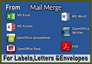 I will do mail merge for letters, envelopes, and labels from excel sheet