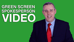 I will be your green screen video spokesperson & presenter