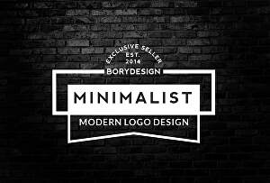 I will design 3 minimal modern logos for you