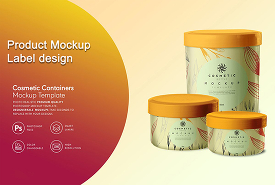Create professional product label design and 3d mockup