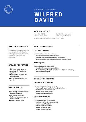 I will provide Professional Resume and CV for your services