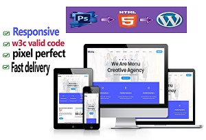I will convert psd to html, wordpress with responsive