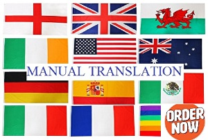 I will do Professional Translation to English, French, Chinese, German, Italian or Russian