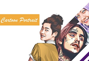 I will draw awesome cartoon portrait with your photo