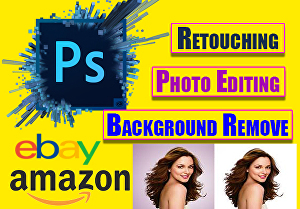 I will Do Professional Photoshop Editing, Background Remove and image Retouching