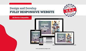 I will design and develop fully responsive  website for all businesses