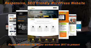 I will design a wordpress website with content and images