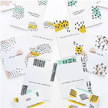 create creative stationery - colorful postcards, greeting cards, book, notebook covers