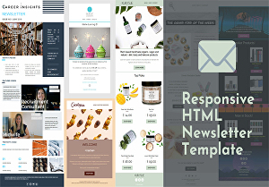 I will design a professional HTML email template quickly