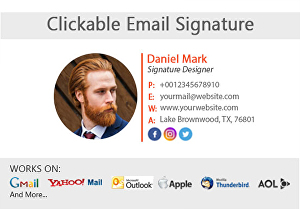 I will design a clickable HTML email signature