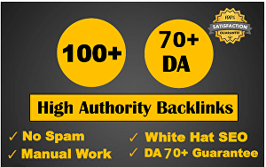 I will build Manual 100 backlinks from unique domain on da 100 sites