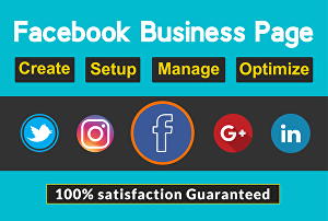 I will Set Up And Optimize Your Facebook, Twitter, Instagram, Pinterest Business Pages