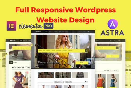 design stunning WordPress website with Astra and elementor pro
