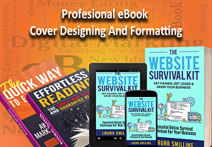 I will do ebook cover designing, layout and formatting