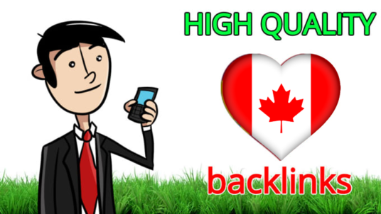 make 30 quality dofollow backlinks from .ca Canada sites