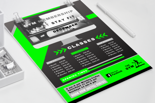 create a professional price list for your company or business service single sided