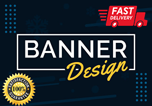 I will design professional web banners, google ads, facebook covers