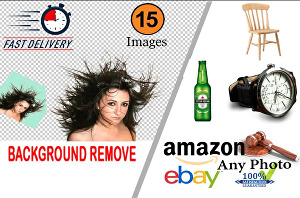 I will remove background of 15 images professionally