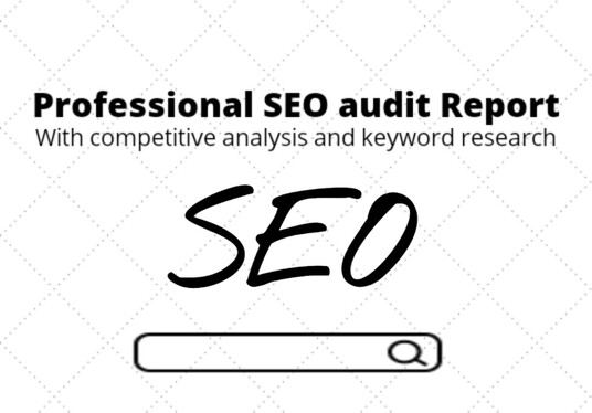 provide SEO audit report with competitor analysis and keyword research