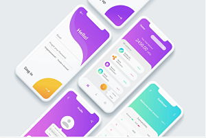 I will design modern app UI and interactive prototype