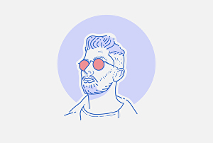 I will draw line avatar portrait in my style for you