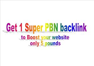 I will create powerful backlink to boost your website with 1 Super PBN
