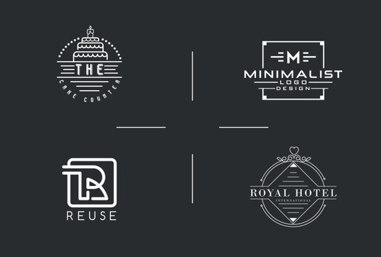 design 2 unique,modern,minimalist and professional logo for your business