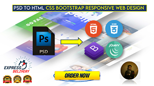 I will convert  PSD to HTML, Responsive Website Design