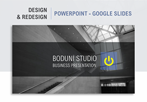 I will design PowerPoint and Google Slides