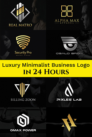 I will design luxury minimalist business logo
