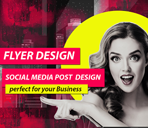 I will design creative an amazing flyer or social media post for you