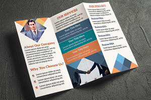 I will design professional company bifold trifold 4 fold brochure