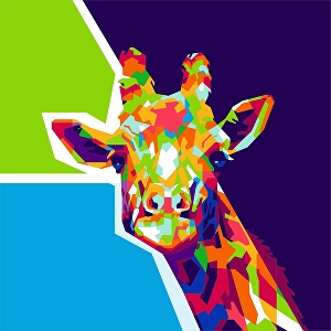 I will draw an incredible WPAP popart of your pet or any animals