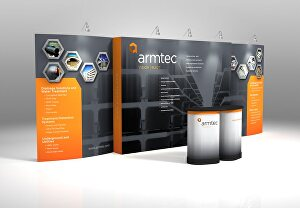 I will design a backdrop, tradeshow booth or retractable banner