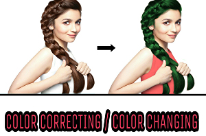 I will do color correction and change the color of your photos