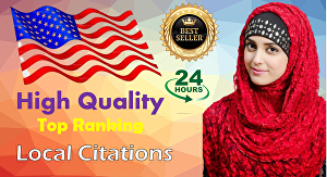 I will create top 350 USA local business listing citations in 24 hours
