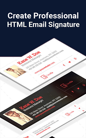I will Design Email Signature or  HTML Email Signature