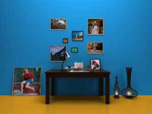 I will create 50 professional and realistic picture art mockups