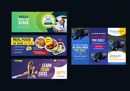 Do Any 2 Web Banner, Facebook Cover Banner, Youtube Banner, Or Fb Ads Designs