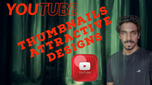 I will create a thumbnail for your youtube video