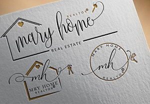 I will design amazing Realtor real estate signature logo with branding kit