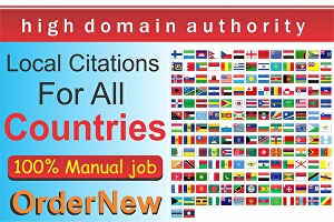 I will do 500 google maps citations for all countries