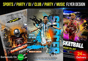 I will create awesome sports or gaming flyer design in 24 hrs