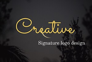 I will design professional signature logo for your business