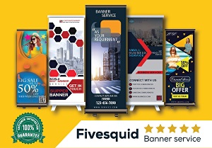 I will design professional Roll-Up, Pull up or X-Stand banner